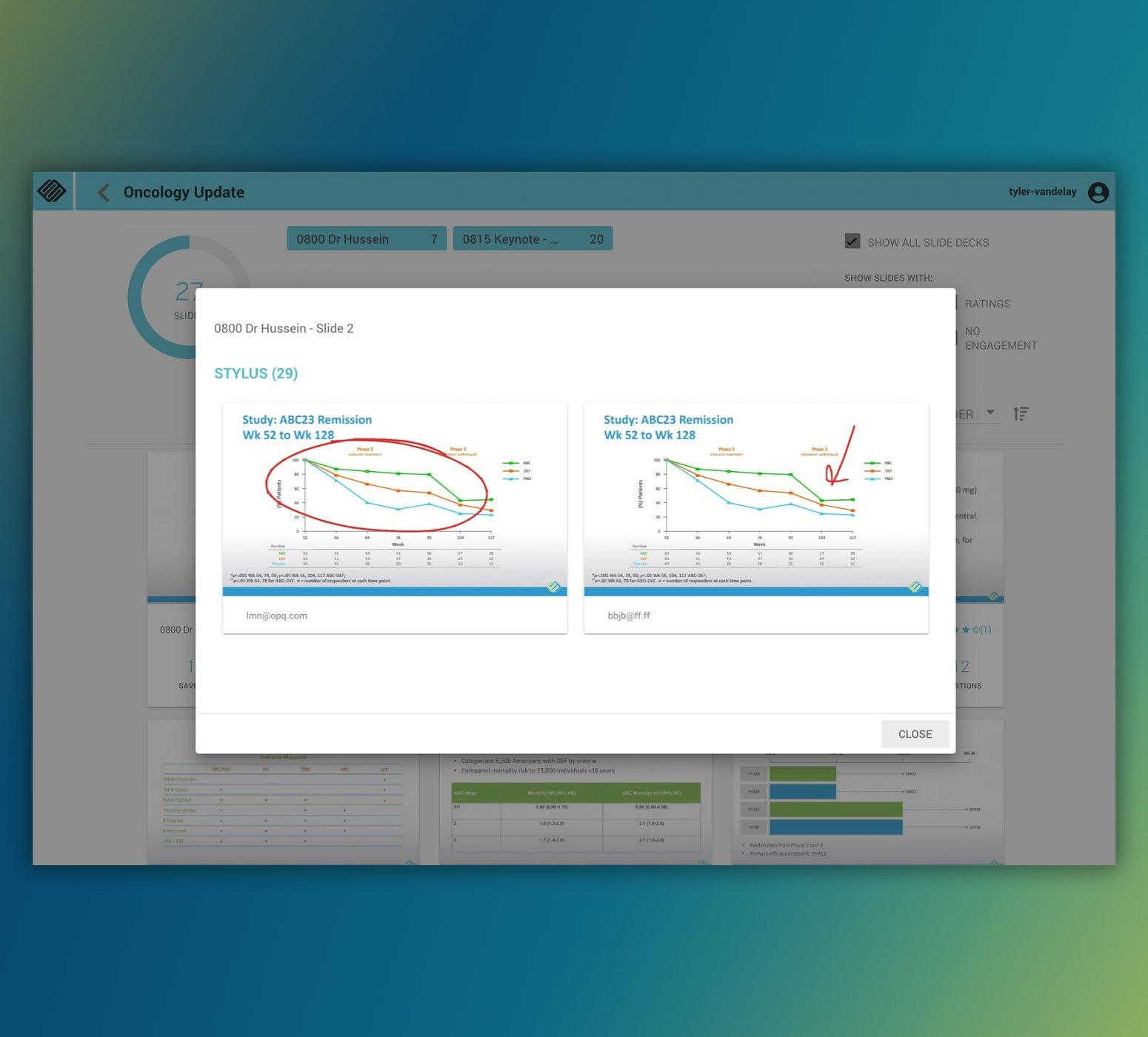 Analyze Slide Engagement