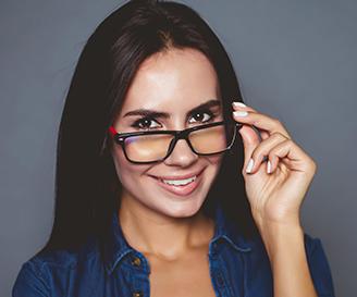 Hispanic Woman Glasses 2